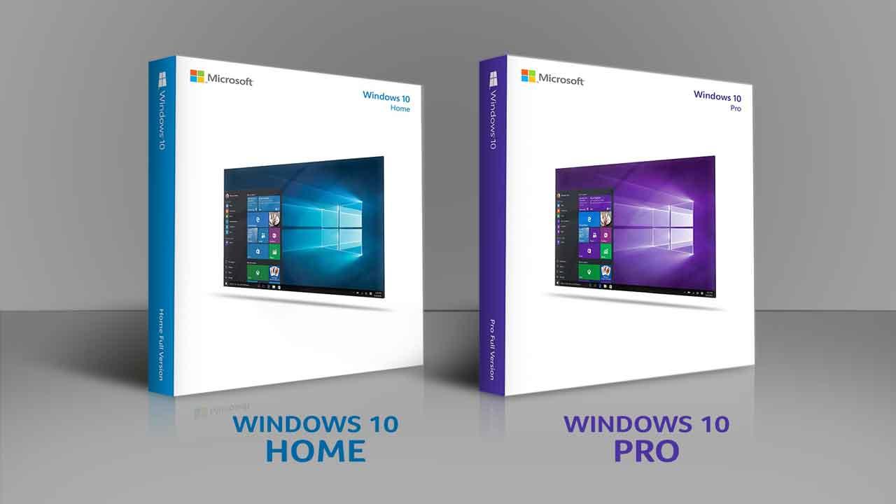 perbedaan windows 10 home dan pro serta tampilan